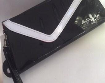 Black Patent leather clutch bag