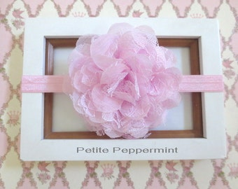 Pink Baby Headband, Baby Flower Headband, Baby Hair Bow, Infant Headband, Toddler Headband, Little Girl Headband, Newborn headband