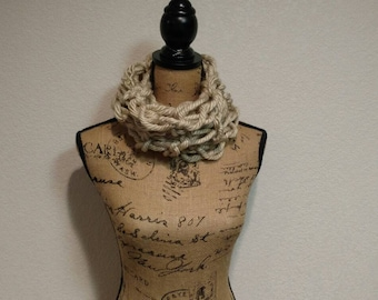 Tan Arm Knit Cowl/Scarf