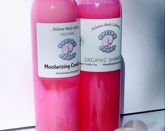 Cotton Candy set shampoo and conditioner organic shampoo organic hair conditioner vegan hair conditioner vegan shampoo