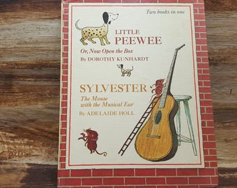 Little Peewee, Sylvester the mouse with The Musical Ear, Two books in one, 1967, vintage kids book