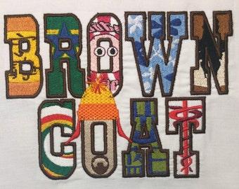 Browncoat Machine Embroidery Design 5x7