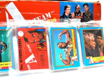 A-Team Trading Cards Rack Pack 45 Cards 1983