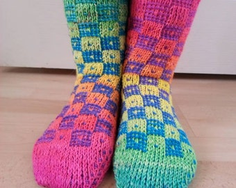 Just an Illusion Tunisian Crochet Sock Pattern
