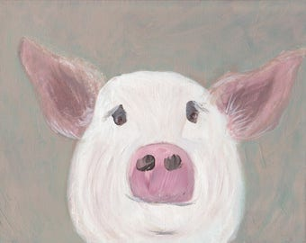 "Printable Art, ""Piggy"" for IMMEDIATE DOWNLOAD"