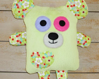 Cuddly plush stuffed polar bear.