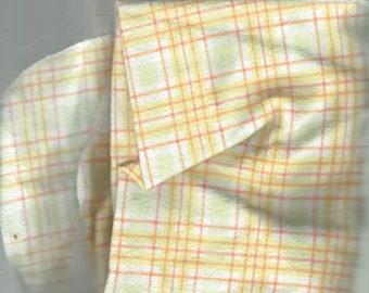 baby blanket orange stripe 28x26