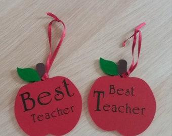 Handmade wooden apple teachers gift