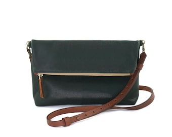 """READY TO SHIP: Medium Leather Crossbody Purse – """"The Betty"""" (multiple colors)"""
