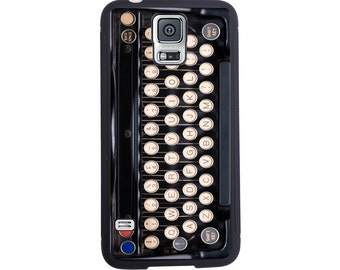 Antique Typewriter Case For The Samsung Galaxy S4, S5, S6, S6 Edge, S7, S7 Edge, S8 or S8 Plus.