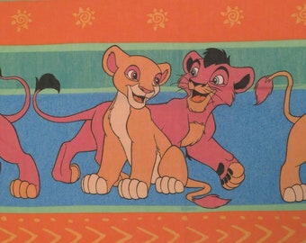 Vintage Lion King Twin flat sheet