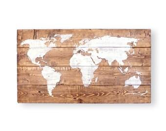 Push Pin Travel Map- World Map Push Pin- Gifts for Travelers- Travel Gifts for Women- World Travel Map- Gift for Men- Nursery Wall Art