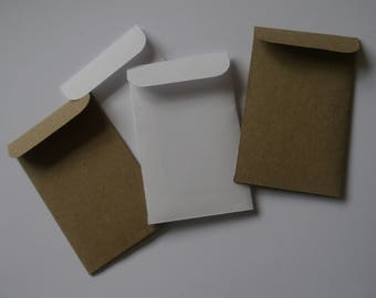 75 x mini kraft paper bags seed packets envelopes,gift favor confetti, party wedding 2.1/4 x3.5in mini bags