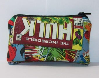 "Pipe Pouch, Pipe Case, Comic Superheroes, Pipe Bag, Padded Pipe Pouch, Zipper Pouch, Smoke Bag, Weed Accessory, 420, Nerd Gift - 4"" MINI"