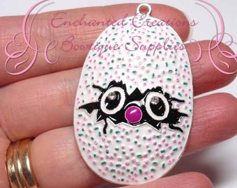 """2"""" Multicolor Hatchimal Egg Inspired Charm, Chunky Pendant, Keychain, Bookmark, Zipper Pull, Chunky Jewelry, Purse Charm, Planner Charm"""