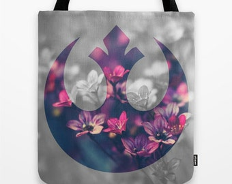 Star Wars Tote Bag Floral Rebel Scum Rebel Alliance Tote Bag