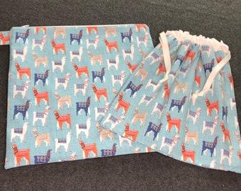 Wet and Dry Bag Set - Llamas