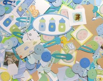 Baby Boy Embellishments - Baby Die-Cuts - Card-Making Supplies - Destash Baby Paper Crafting Mystery Bag - Die Cut Grab Bag - Scrapbooking