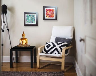 BUY 1 GET 1 ~ Art prints for your yoga or meditation room ~ Or a healing gift for anxiety relief <3