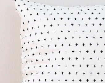 Small plus sign pillow cover ,  Swiss cross pillow Case