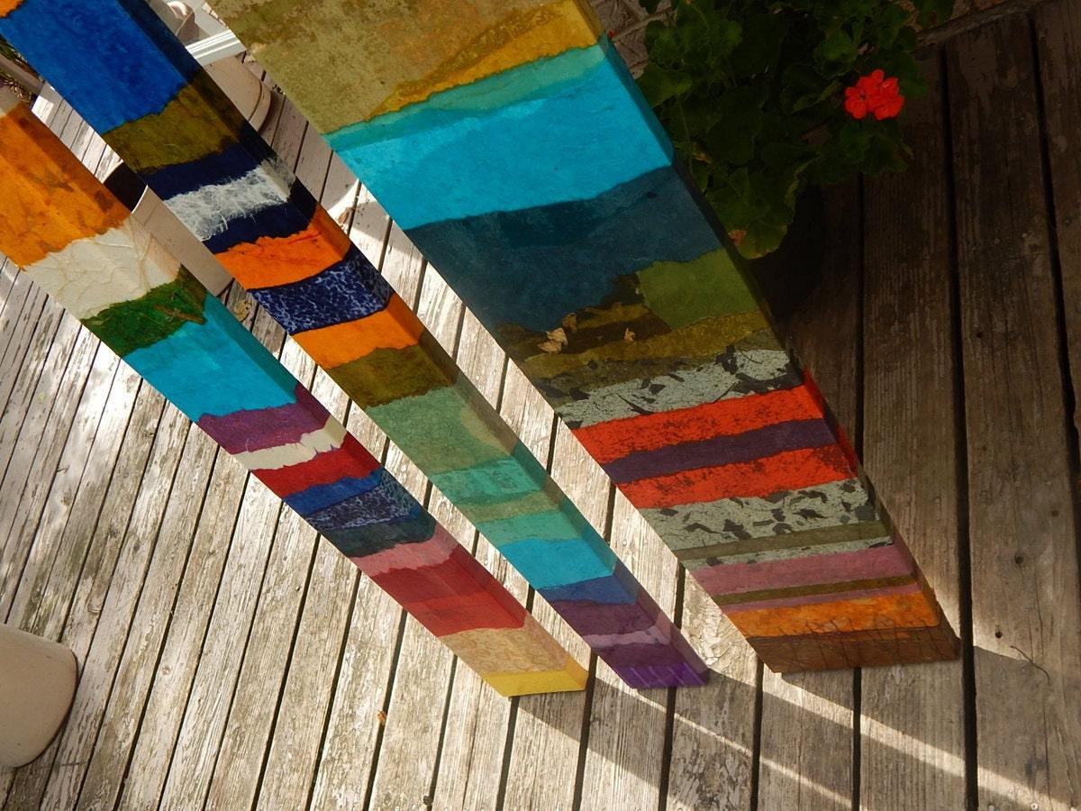 Abstract Mixed Media Art Painting Bowed Panels Variety of sizes