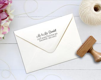 Return Address Stamp, Couple Monogram Stamp, Custom Return Address Stamp, Save the Date Stamp