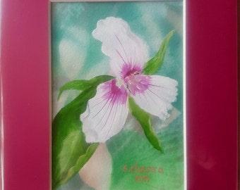 Original Acrylic Painting - Trillium