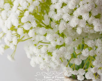 6 White Baby's Breath for Bridal Bouquets Wedding Centerpieces Home Decoration