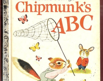 Vintage Children's Book – Richard Scarry's Chipmunks ABC – a Little Golden Book – 1963