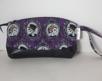 Skulls Clematis Wristlet Purple Day of the Dead New