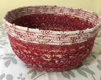 Fabric Covered Rope Bowl