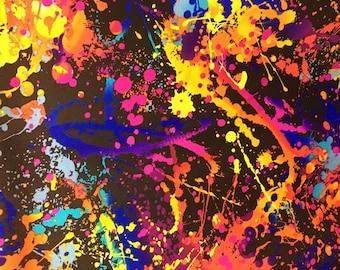 Paint Splatter Print Etsy