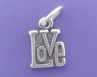 LOVE Charm .925 Sterling Silver, MINIATURE Small - elp625