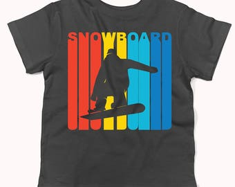 Retro 1970's Style Snowboarder Silhouette Snowboarding Infant / Toddler T-Shirt