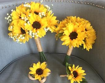 Sunflower bouquet | Etsy