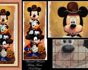 Haunted Mansion Mickey Mouse, cross stitch pattern, cross stitch disney, cross stitch Mickey, disney, PDF pattern - instant download!
