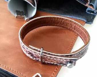 Leather bracelet, leather cuff, leather bracelet