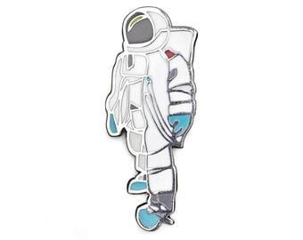 Enamel pin astronaut, fine art enamel pin, Jason Oliva enamel pin, astronaut lapel pin, enamel pins, astronaut brooch, astronaut badge,