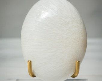 Rare Polished Scolecite Palm Stone