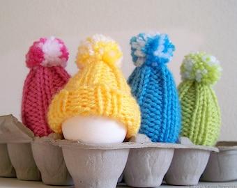 Egg Cozy Pattern, Beginner Knitting Patterns, Amigurumi Pattern, Easter Eggs Hat, Easter Egg Hat, Egg Warmer, Easy Knitting Patterns Egg Hat