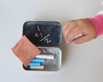 Chalkboard Childrens Activity Box, Kids Toys, Kids activities, chalkboard, drawing. learning to draw, chalk, busy box, busy box shop