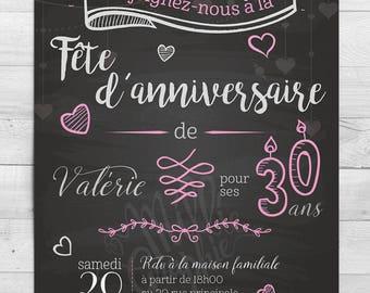 Romantic birthday, invitation, card, announcements, birthday
