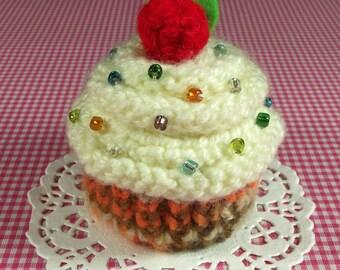 KNITTING CUPCAKE PATTERN Amigurumi Cupcake Toy Amigurumi Food  Cream Frosting knit dessert pattern Pincushion pdf Pattern Instant Download