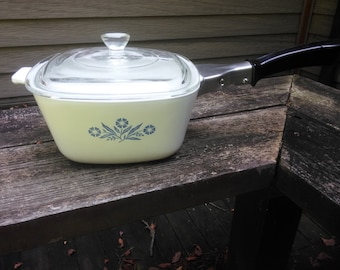 Vintage Corning Ware Covered Casserole Dish - 1 3/4 Quart Number P-1 3/4-B - Corning Casserole