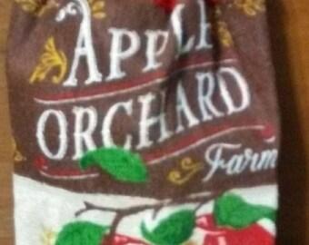 Crochet Kitchen Hand Towel apple
