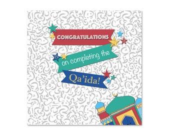 Congratulations on Completing the Qa'ida Boys Islamic Card
