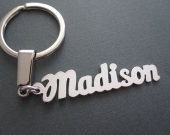 Personalized Name Keychain in 3 Colors - Custom Name Keychain - Custom Name Key Ring - Custom Name Gift - Gift for Men - Gift for Him