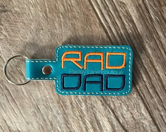 Rad Dad Keychain, Fathers Day Gift, Gift for Dad, Gift for him, Cool Dad Gift, Funny Gift for Dad, Best Dad Ever