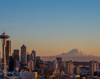 Seattle Kerry Park Sunset Canvas