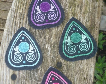 Pastel Goth Planchette Hand Embroidered Patches